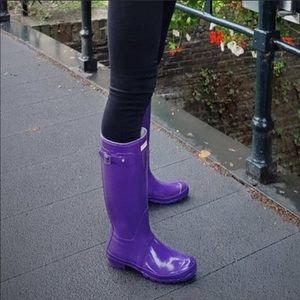 Hunter Women Original Gloss Purple Tall Rain Boots